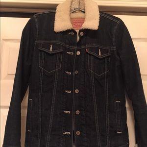 Levi's Dark Wash Denim Lined Jacket